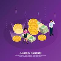 Stock Exchange Isometric Banner Vector Illustration