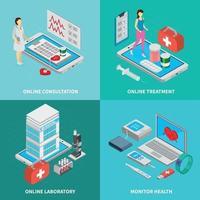 Mobile Medicine Concept  Icons Set Vector Illustration