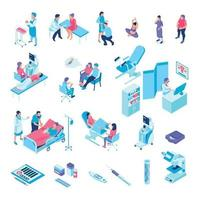 Gynecology Isometric Icons Collection Vector Illustration