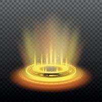 Ilustración de vector de ilustración de portal mágico amarillo realista