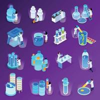 Water Purification Isometric Icon Set Vector Illustration