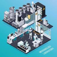Robot Isometric Professions Concept Vector Illustration