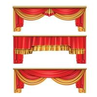 Luxury Curtains Realistic Composition Vector Illustration