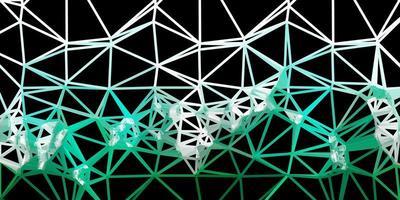 diseño de mosaico de triángulo vector verde oscuro.