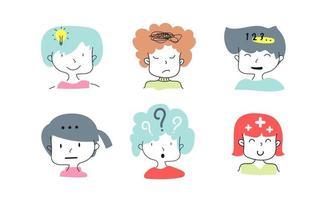 People expression vector illustration set bundle