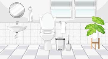 diseño de interiores de baño con muebles vector