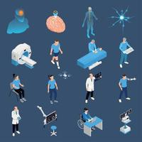 Neurology Icons Set Vector Illustration