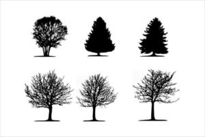 tree silhouettes set vector eps 10