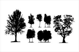tree silhouettes mega set vector