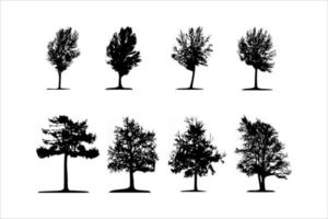 sample set of tree silhouette vector