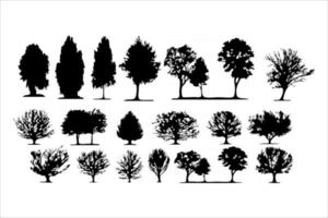 mega set of tree silhouettes vector