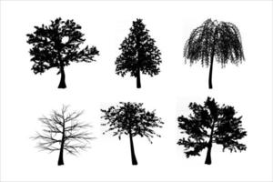 tree silhouettes set vector