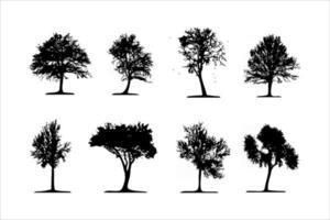 siluetas de árboles detalladas vector