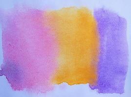 Gradación pintada a mano de la acuarela abstracta para el fondo. foto
