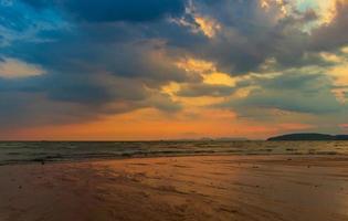 sunset at the beach  Ao Nang Krabi Thailand photo