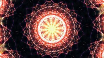 caleidoscopio di arte geometrica mandala futuristico video