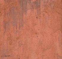 Textura de superficie de metal viejo pintado, pintura naranja con óxido foto