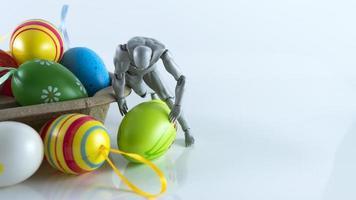 concepto de huevo de pascua. celebración o festival foto