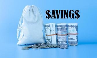 Saving Concept Money and Coins photo