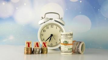 Tax Cut Reduce Payment Concept photo