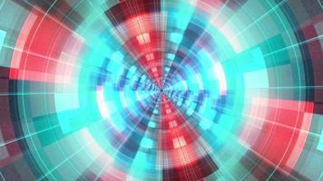 Red Blue Glow Futuristic Scifi Flickering Light Rotate video