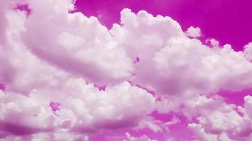 time lapse moln och pastellrosa himmel video
