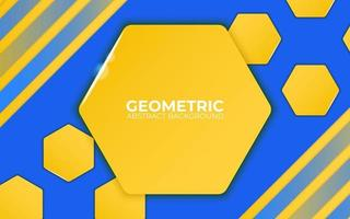 blue and yellow abstract geometric background. vector