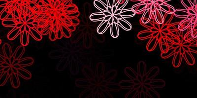 Dark Pink, Red vector background with random forms.