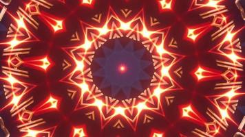 Red Gold Flickering Kaleidoscope Shapes video
