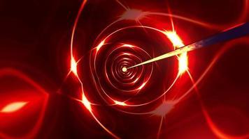 glödande röd symmetrisk teknik futuristisk stjärna video