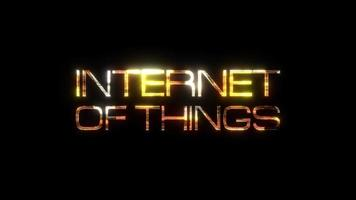 Internet of Things Gold Text Effect video