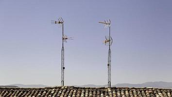 Old antennas to watch analog television photo