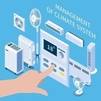 gestión de la composición del sistema climático ilustración vectorial vector