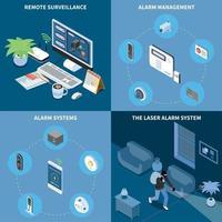 Home Security 2x2 Design Concept Vector Illustration