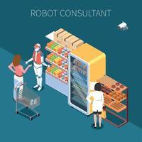 Shop Technology Isometric Background Vector Illustration