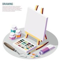 Hobby Crafts Isometric Composition Vector Illustration