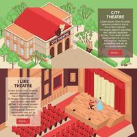 Theatre Banners Set Vector Illustration