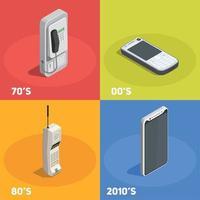 Retro Devices 2x2 Design Concept Vector Illustration