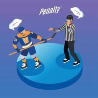 Hockey Isometric Background Vector Illustration