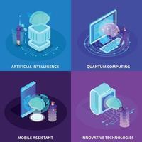 Artificial Intelligence 2x2 Design Concept Vector Illustration
