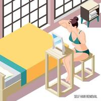 Hair Removal Background Vector Illustration