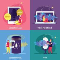 Voice Functions 2x2 Design Concept Vector Illustration