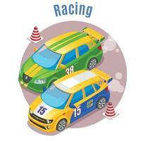Ilustración de vector de concepto isométrico de deportes de carreras