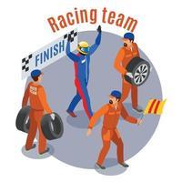 Ilustración de vector de composición de deportes de carreras