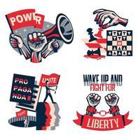 Ilustración de vector de concepto de propaganda de revolución