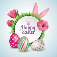Easter Realistic Illustration Vector Illustration