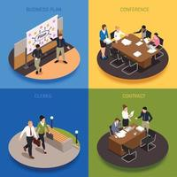 Business People  Concept Icons Set Vector Illustration