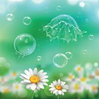 Bubbles Explosion Realistic Background Vector Illustration