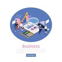 Business Management Page Design Vector Illustration