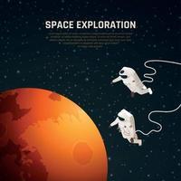 Space Exploration Background Vector Illustration